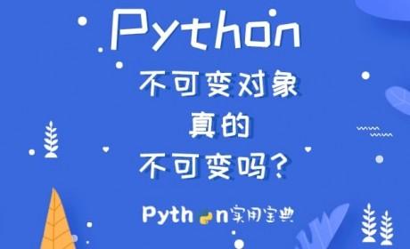 Python 不可变对象真的不可变吗?