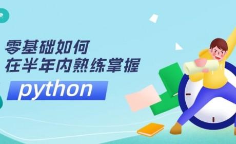 编程零基础如何在半年内熟练掌握python?