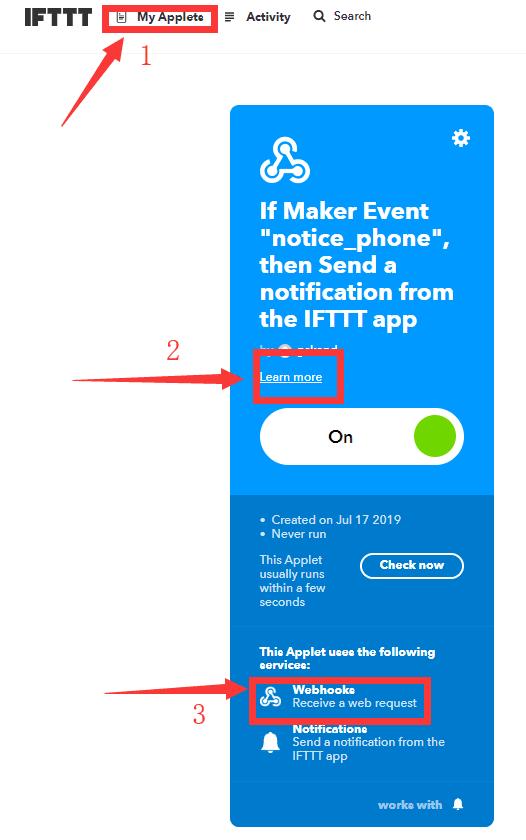 IFTTT my applets